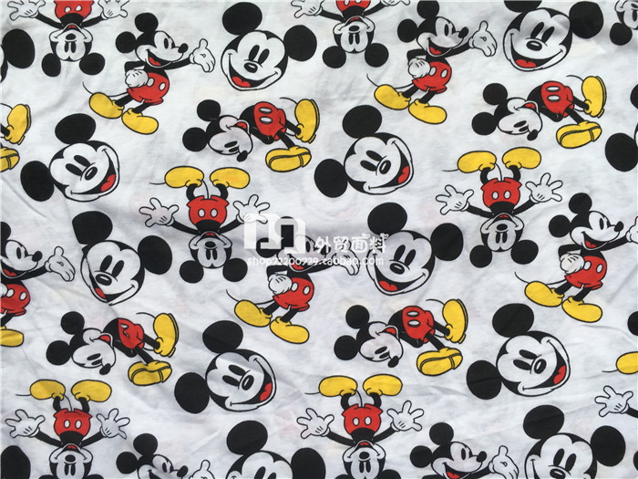 145cm Width White Background Mickey Mouse Soft Knitted ...