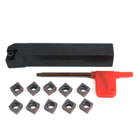 10pcs CCMT09T304 Inserts 1pc SCLCR1616H09 Turning Tool Lathe Boring Bar With Wrench For Cuuting Tool