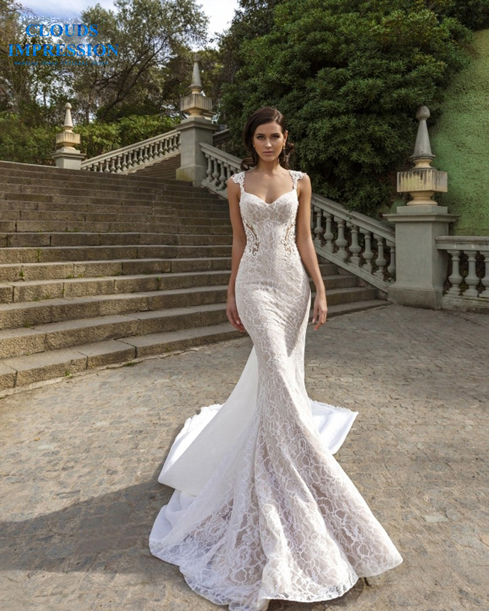 Sexy Sweetheart Mermaid Wedding Dress 2019 Lace Beading Appliques Bridal Gowns Vestige De Noiva Chapel Train