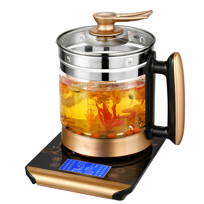 Electric kettle  health automatic thickened glass multi-function electric heating  flower teapot boili health raising pot is fully automatic and thickened glass