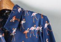 w02-39 новинка по самым низким кредит-Grant повар с длинным рукавом рубашки поло стоит мультфильм птица печать рукава