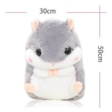 Plush Doll Toy Cute Design Cartoon Squirrel Shape Portable Blanket Toys Sofa Car Office Air conditioning Travel Blanket Toy Gift