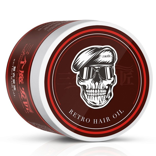 Hair Styling Oil Men Arrival Strong Style Restoring Pomade Hair Wax Skeleton Cream .