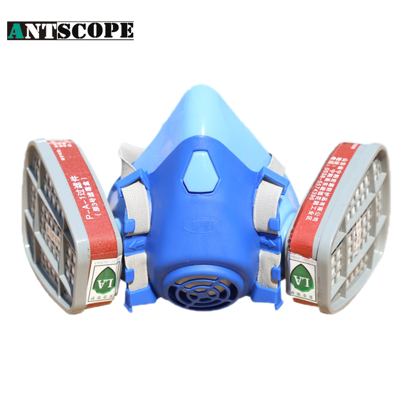 High Quality Pesticide Mask Working Dust Spray Pesticide Painting Industrial Chemical Protection Half Mask Respirators Gas Masks free shiping xhzlc60 fire escape smoking chemical protection mask