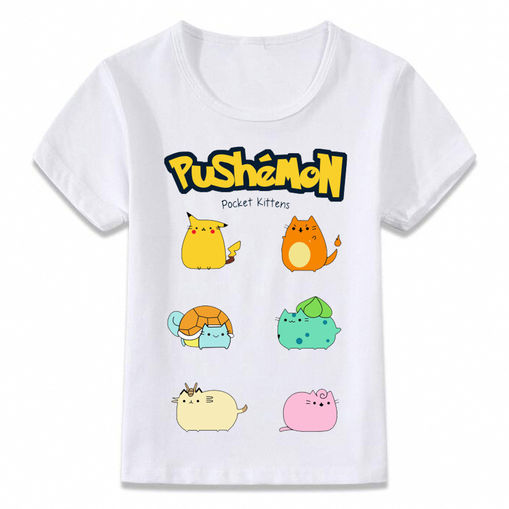 Kids Clothes T Shirt Cat Pokemon Funny T-shirt For Boys And Girls Toddler Shirts Tee Oal081
