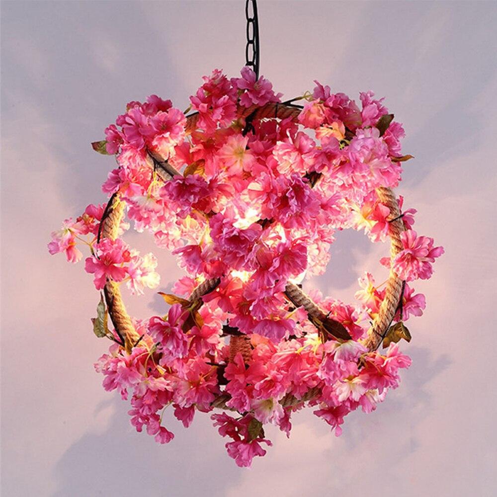 1,8 м моделирования цветок ротанга лоза домашние Декор освещение украшение висит Свадебные Спальня Кофе столик дома