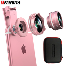 FANBIYA Cellular Digital camera Cellphone Lens 4K Tremendous Broad Angle + 15x Macro Lens + 230 Fish Eye Fisheye Lenses Smartphone for IOS Android