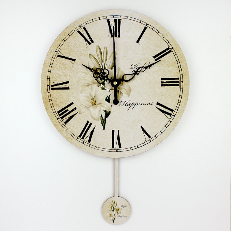 Wholesale Modern Home Decor Swing Wall Clock Roman