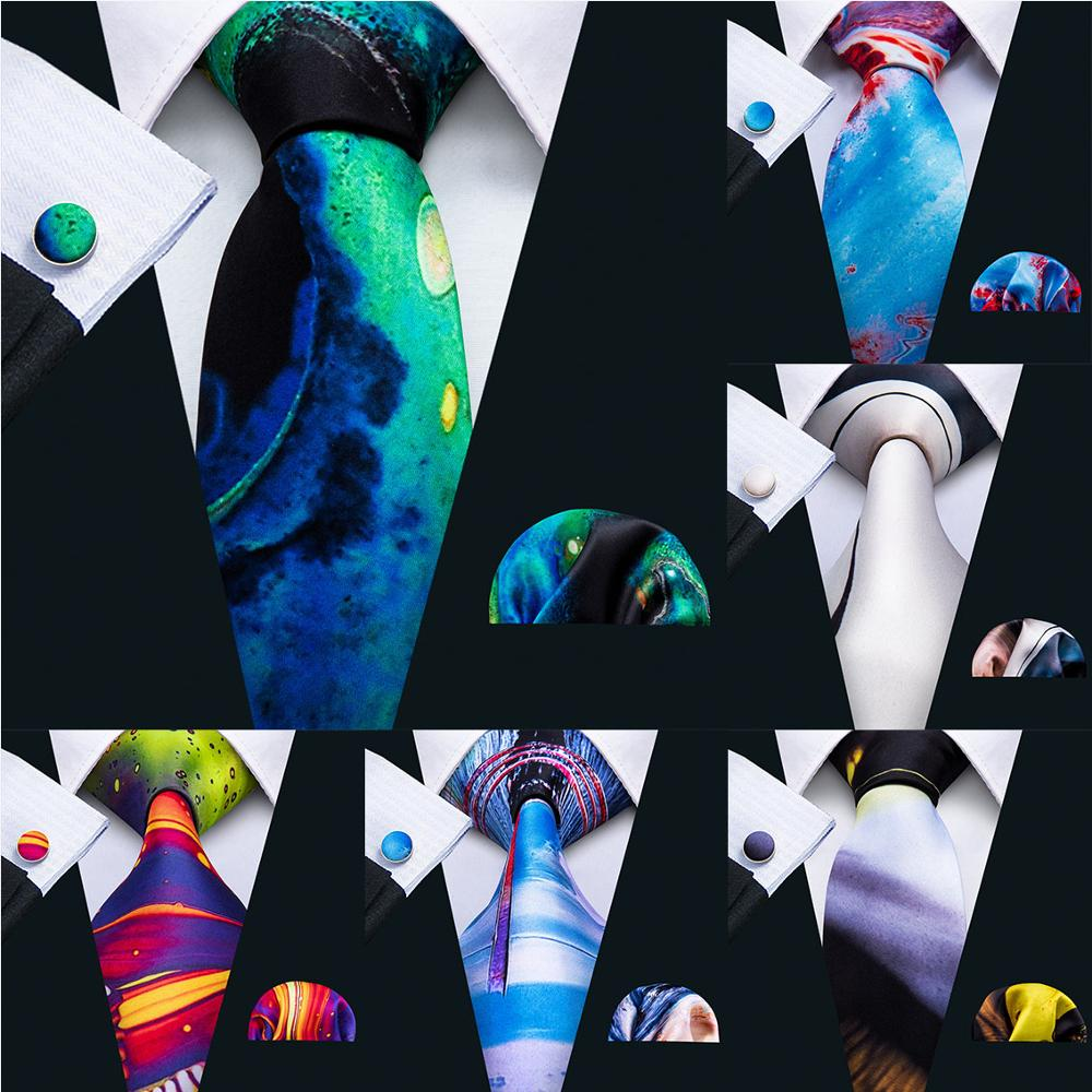 New Arrival Men Necktie 100% Silk Mens Tie 7 Colors Print Ties For Men Wedding Barry.Wang Business Style Dropshipping Tie LS-07