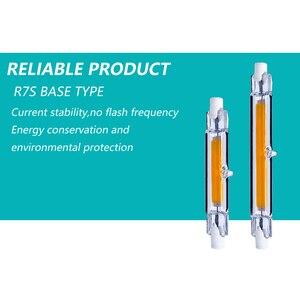 Image 4 - R7S 118 ミリメートル COB ミニガラス管 LED 15 ワット 9 ワット交換ハロゲンランプ 220 V 240 V r7S 78 ミリメートル強力な Led スポットライト電球