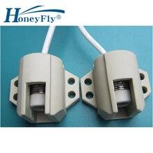 HoneyFly2pcs R7S основание лампы керамический R7s держатель соединитель конвертера металлическая ручка 78 мм 118 мм 165 мм 189 мм 254 мм 333 мм галогенная лампа
