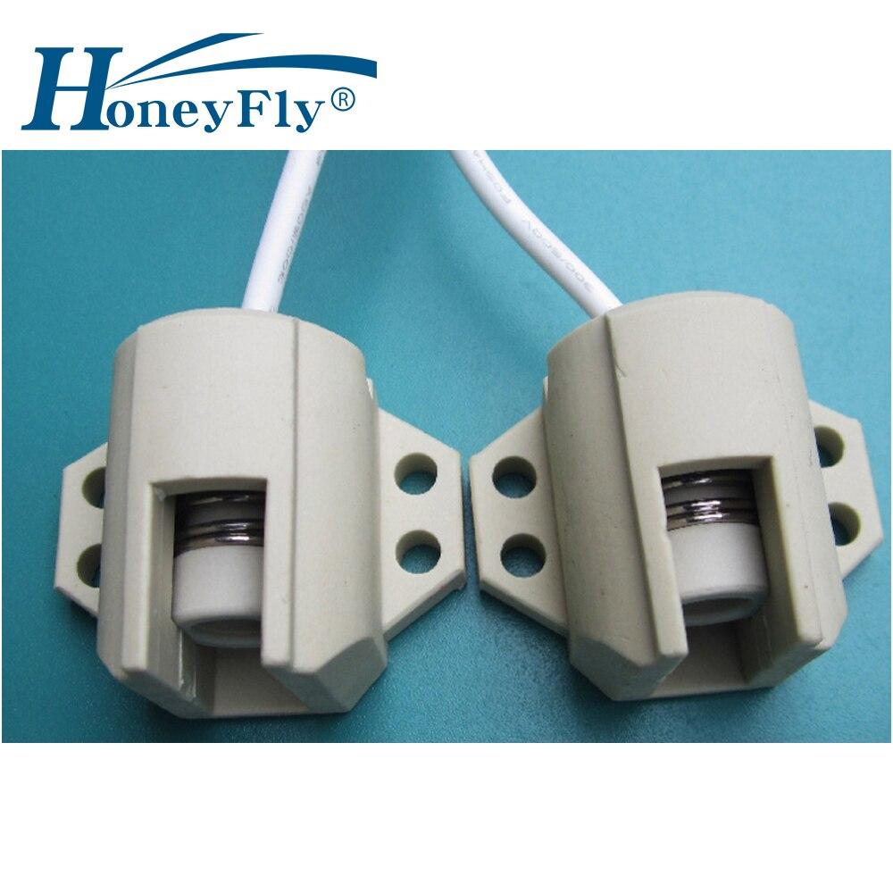 HoneyFly2pcs R7S Lamp Base Ceramic R7s Holder Converter Connector Metal Handle 78mm 118mm 165mm 189mm 254mm 333mm Halogen Lamp