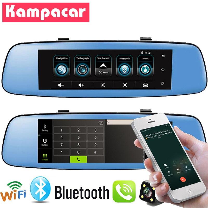 Kampacar приводной Регистратор Автомобильный видеорегистратор для автомобилей Android 3g gps Автомобильный видеорегистратор Wifi зеркало заднего вид
