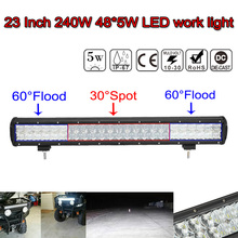 23 pulgadas 240 W Impermeable IP 68 Spot & Flood Combo 5D Lente LED Light Bar Inundación Del Punto Combo Lámpara de Trabajo ATV SUV 4WD