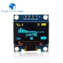 "0.96 inch IIC Seriële Geel Blauw OLED Display Module 128X64 I2C SSD1306 12864 Lcd-scherm Board GND VCC SCL SDA 0.96 ""voor Arduino(China)"