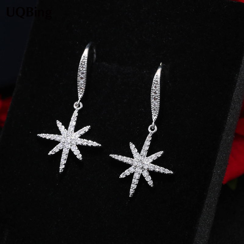 Latest New Style Good Jewelry Fashion 925 Sterling Silver Drop Earrings Crystal Rhinestone Earrings Jewelry Pendientes Brincos