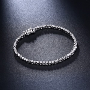 Image 4 - Elegante Reine Sterling Silber 7 Zoll Tennis Armbänder Schmuck Einstellung 2mm Runde Kristall Luxus Ewige 925 Zirkonia Schmuck