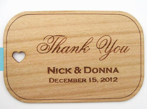 Cheap Wedding Thank You Gifts: Cheap Personalized Names Date Thank You Rustic Wedding