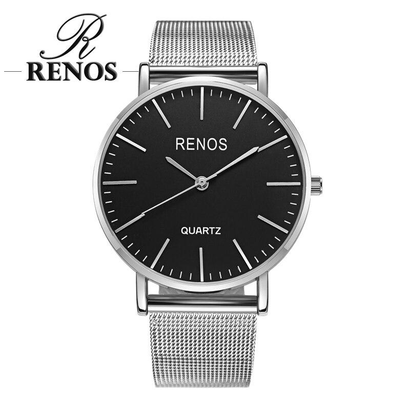 RENOS 여성 시계 박스 합금 밴드 스트랩 아날로그 - 여성 시계