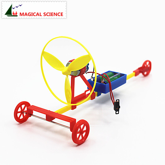 Wholesale Fun Physics Experiment Air Driving Power Racing Car DIY Materials,home School Educational Kit,best Gift For Kids