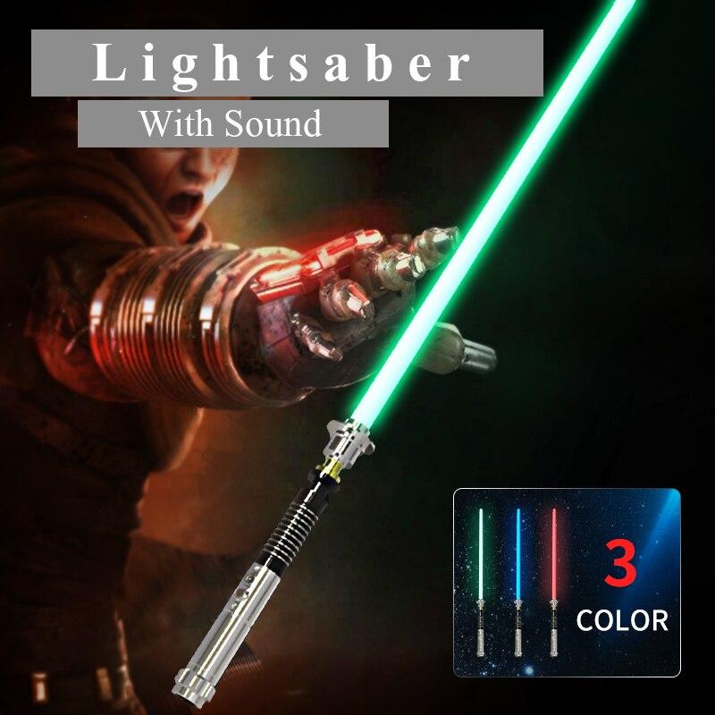 Nouveau 110 cm Longueur Cosplay Sabre Laser Avec Son et Lumière Led Rouge Vert Bleu Sabre Laser Nouvelle Mise À Niveau Sabre Laser Jouet cadeau