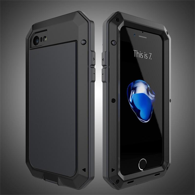 imágenes para Doom Hybrid Tough Heavy armor Dirt Choque de Metal De Aluminio de lujo Cajas Del Teléfono para el iphone de Apple 7 5 SE 5S 6 6 S Plus protector casos
