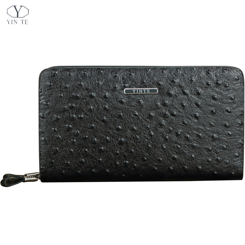 YINTE 2016 Cow Leather Men's Clutch Wallets Long Wallet Clutch Wrist Bag Black Wallets And Purses Card Holder Portfolio T027-2 allishop 300w 48v 6 25a single output ac 110v 220v to dc 48v switching power supply unit for led strip light free shipping
