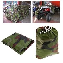 Universal Waterproof Dustproof Quad ATV Vehicle Scooter Motorbike Cover For Polaris /Honda /Yamaha /Suzuki Camouflage