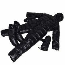 Новый стиль соединенный вниз костюм 1500 г гусиный пух наполнение Водонепроницаемый Профессиональный удобный Зимний пуховик