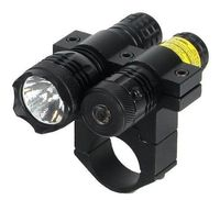50Nm Tactical Weapon Red Laser Sight With 80 Lumen Flashlight 1 Scope Mount