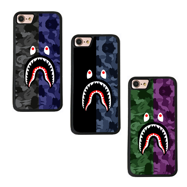 on sale 97694 4a294 Hard Back Covers Case For Iphone X Funda bape shark Camo Coque For Iphone 6  6S 7 8 Plus Phone Case Cover Capinha 7 iphonex case-in Fitted Cases from ...