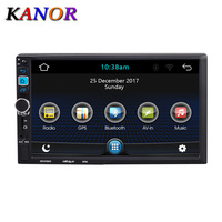 KANOR 2din Universal 7 Android Car Radio Stereo GPS Navigation Bluetooth USB SD Car Multimedia Player Audio Player Autoradio