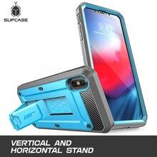 Чехол кобура для iPhone Xs Max, 6,5 дюйма, SUPCASE UB Pro, защитный чехол со встроенным экраном и подставкой