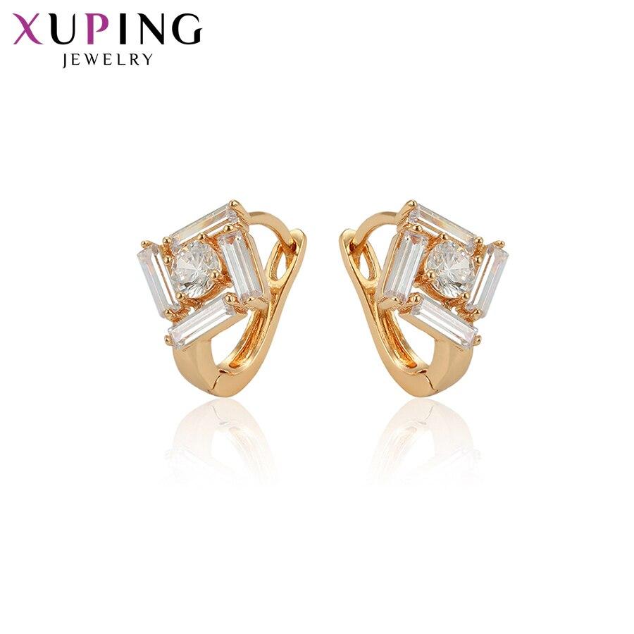 Creolen Xuping Fashion Square Form Gold Farbe Überzogen Hoops Ohrringe Hohe Qualität Schmuck Für Frauen Geschenke S49.3-97380 Schmuck & Zubehör
