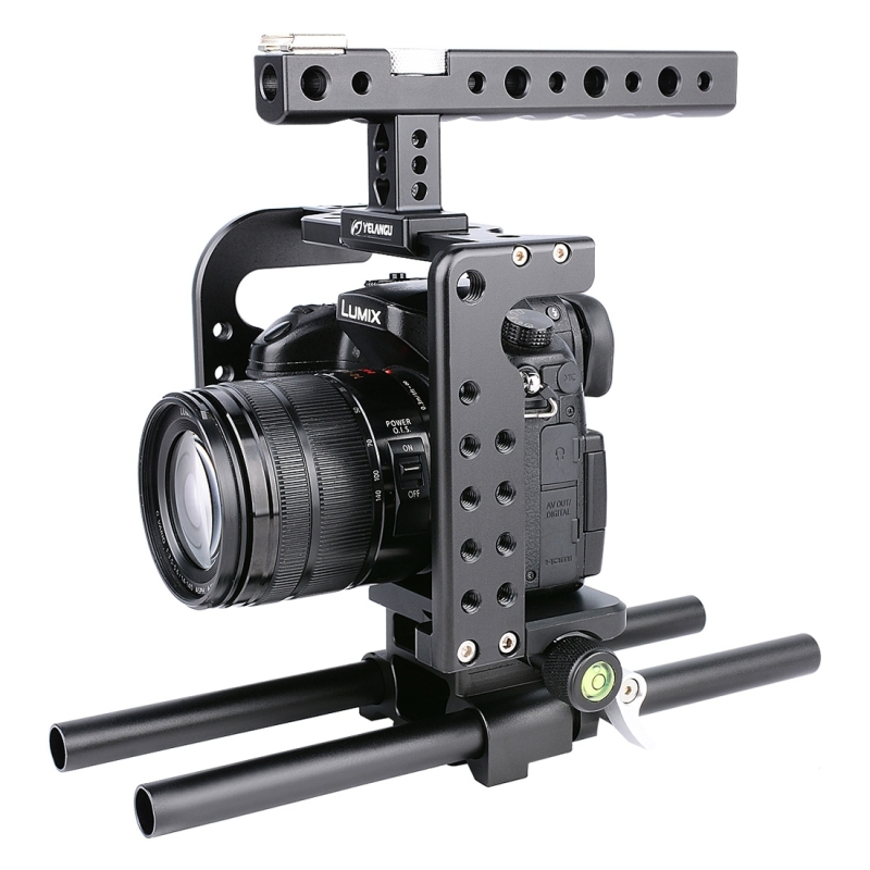 YELANGU For Panasonic Lumix DMC-GH5 Camera Stabilizer Handheld Protective Video Camera Cage+Top Handle Kit Film Making System panasonic lumix gh5