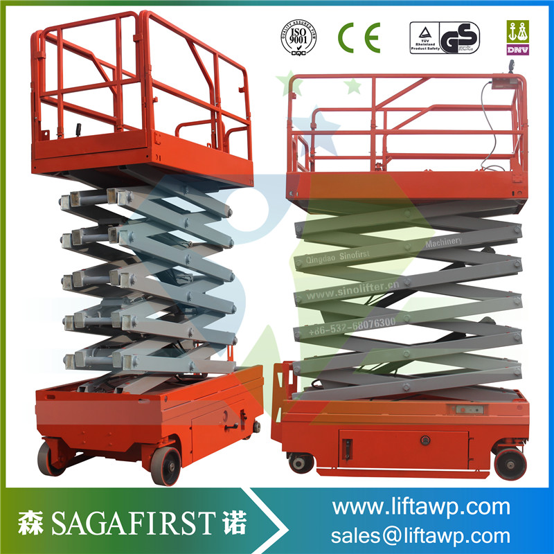 6m 8m Aerial Working Platform Mobile Lifting Equipment Self Propelled Lift Table