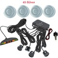 4 Sensors 12V LED Car Parking Sensor Monitor Auto Reverse Backup Radar Detector LED Display 44 Colors for option best selling