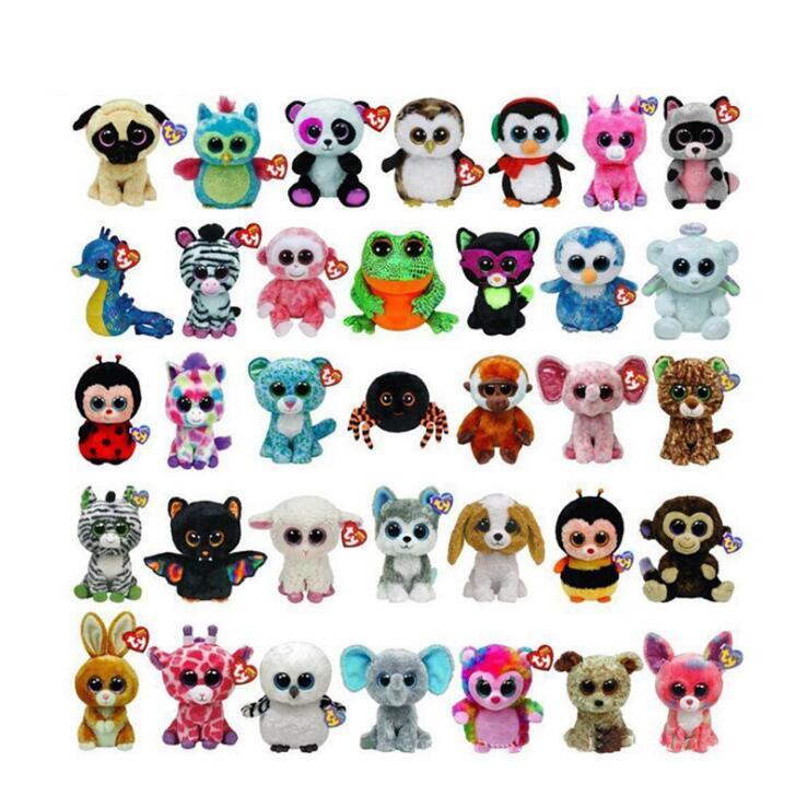 Ty Beanie Boos Elephant And Monkey Plush Doll Toys For Girl Rabbit Fox Cute Animal Owl Unicorn Cat  6