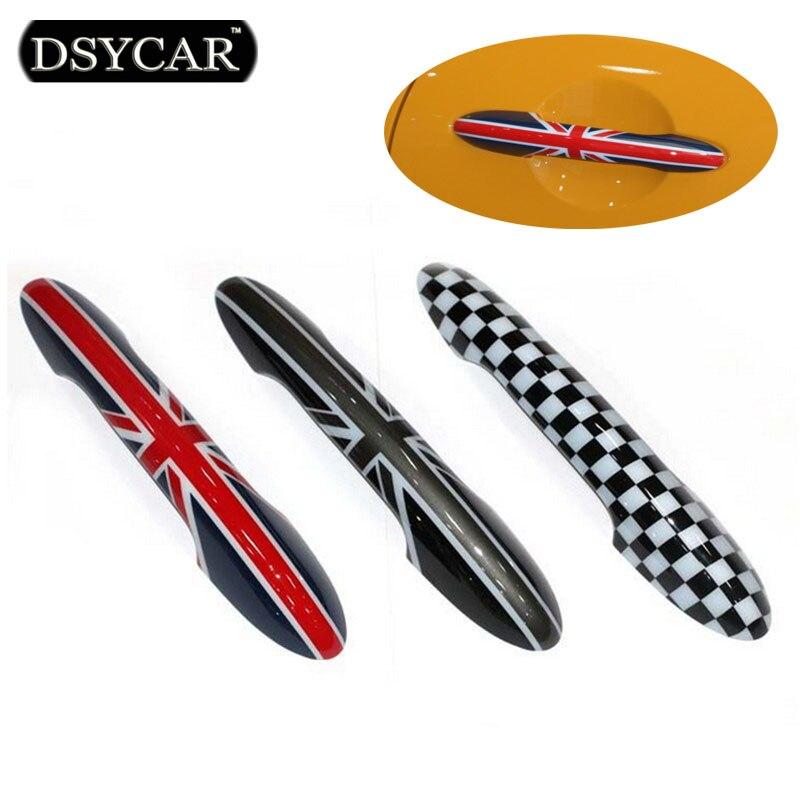 DSYCAR 4шт=2комплекта ручка двери автомобиля наклейки и отличительные знаки автомобилей-стайлинг логотип для BMW мини f55, которая новый стиль автомобилей стайлинг