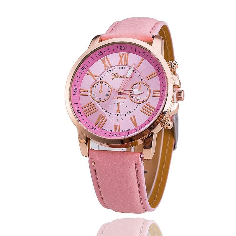 100 ชิ้น/ล็อต 3888 Super ผู้ขายแบรนด์เจนีวานาฬิกาสุภาพสตรีนาฬิกาแฟชั่นสไตล์โรมันหนังนาฬิกาควอตซ์นาฬิกาข้อมือ-ใน นาฬิกาข้อมือสตรี จาก นาฬิกาข้อมือ บน   2