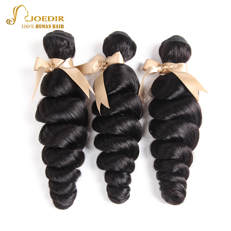 Joedir Hair Products Indian Loose Wave Remy Hair Bundles 3 PCS 10-30 Natural Color 100% Human Hair Weave Fast Free Shipping