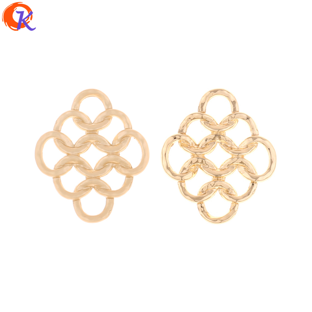 Cordial Design 100Pcs 23*27MM Jewelry AccessoriesEarring ConnectorsNets ShapeDIY Jewelry MakingHand MadeEarring Findings