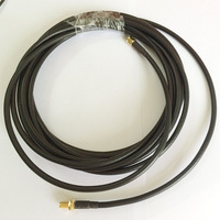 ALLISHOP RF coaxial coax adapter SMA female to RP SMA male Antenna Connector RG58 Pigtail Cable 35m