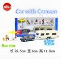 Siku/1:55 fundición modelos de metal/juguete de simulación: coche con caravana/para los regalos de los niños o para las colecciones/muy pequeño