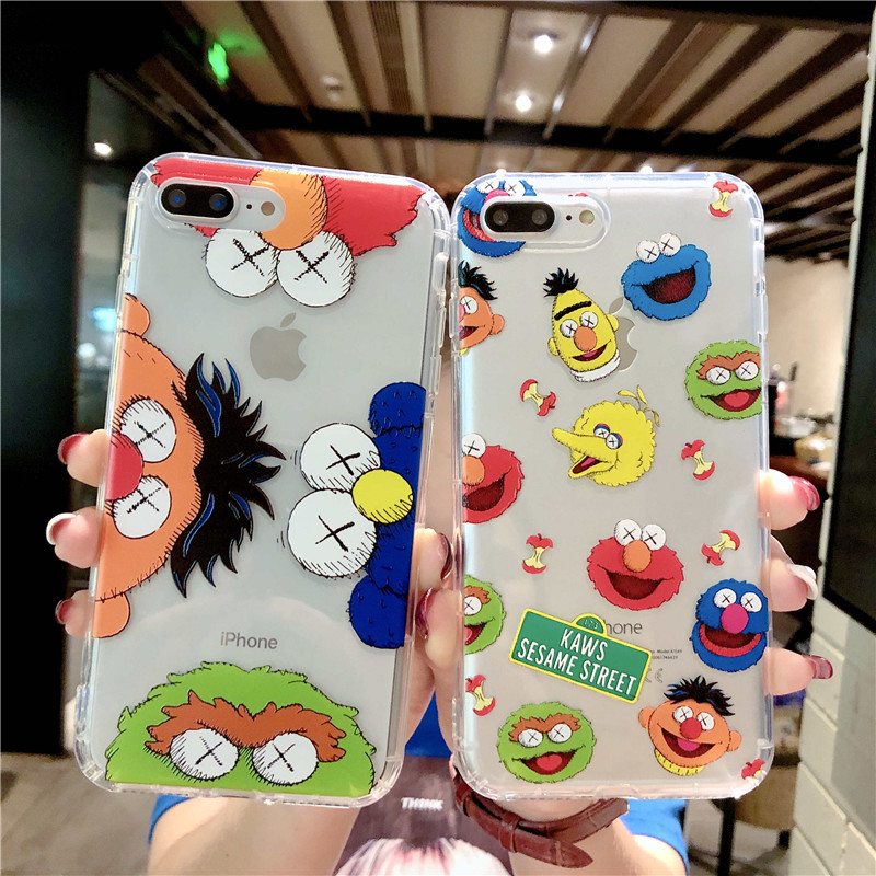 63d6fb18055e Mouplayca Cute Cartoon Sesame Street Phone Cases For iPhone X Case For  iPhone 7 6 6S 8 Plus Soft Silicone TPU Back Cover Case