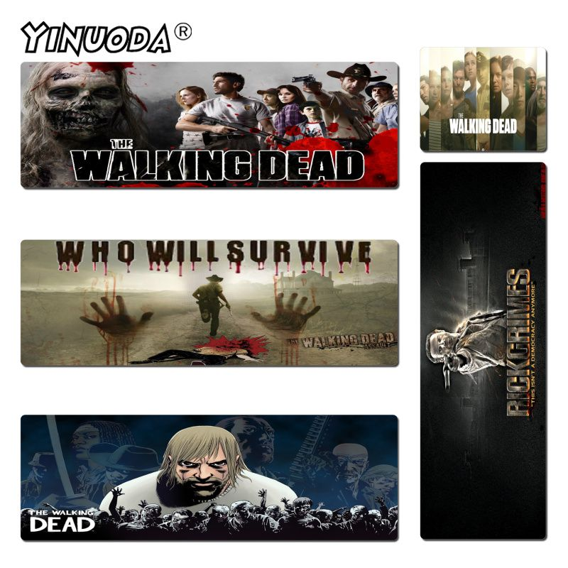 Yinuoda Walking Dead Wallpaper Rubber Mouse Durable Desktop Mousepad Size for 30x60cm and 40x90cm Gaming Mousepads