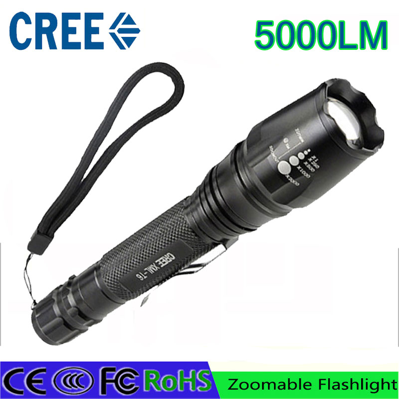 z90 new led flashlight torch 5000 lumen cree xm t6. Black Bedroom Furniture Sets. Home Design Ideas