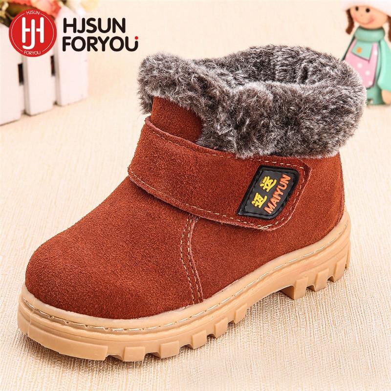 6767a36ec05 2019 nuevos niños de invierno botas de cuero genuino de niño y niñas  invierno calzado los niños zapatillas de deporte marca Niño Zapatos de  tobillo martin ...