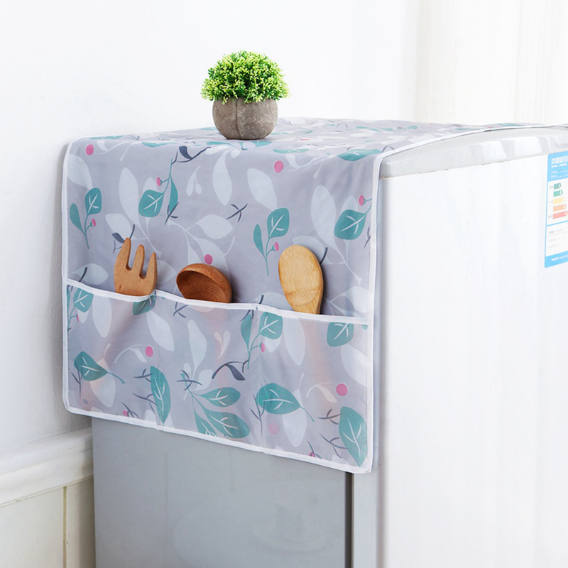 NEW Fashion Waterproof Refrigerator Dust Cover Storage Bag Cabinet Kitchen Tool Fridge Washing Machine Cover Home Accessories