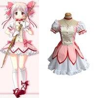 Puella Magi Madoka Magica Kaname Madoka Cosplay Uniform Suit Women Halloween Costumes Dress Free Shipping